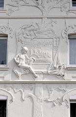 Jugendstilfassade - Wohnhaus / Handwerkerhaus Hansestadt Salzwedel.