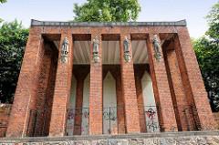 Die Gedenkhalle für die Gefallenen des Ersten Weltkrieges in Salzwedel;  1923 fertiggestellt.