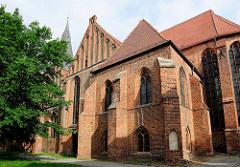 St. Katharinenkirche in Salzwedel; Backsteinbasilika aus dem 15. Jhd.