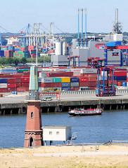 Radaranlage am Ellerholzhöft / Kronprinzkai des Kaiser Wilhelm Hafens im Hamburger Hafen.