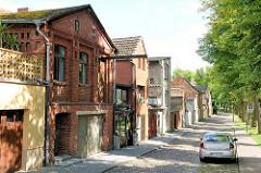 Backsteinarchitektur, Handwerkerhäuser an der Stepenitz in Perleberg.