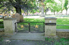 Sowjetischer Ehrenfriedhof - Kriegsgräberstätte; Grahlplatz in Perleberg.