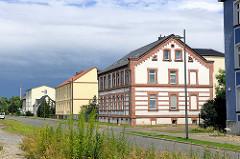 Wohngebäude am Bahnhof in Kyritz.