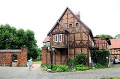 Fachwerkgebäude an der Probstein von Salzwedel.