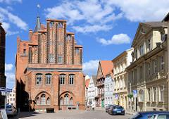 Rathaus der Stadt Perleberg - gotischer / neugotischer Backsteinbau.