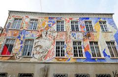 Wandbild - Wandmalerei / Hausfassade Autonomes Zentrum Salzwedel.