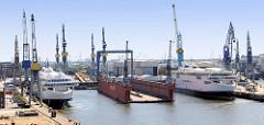 Ausrüstungskai der Werft Blohm & Voss in Hamburg Steinwerder.