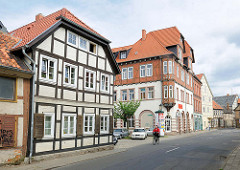 Fachwerkgebäude und Gründerzeitarchitektur in Salzwedel.