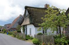 Strohdachkaten - Wohnhäuser in Seestermühe, Kreis Pinneberg.