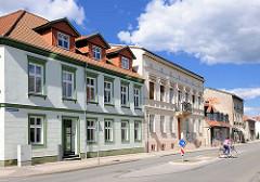 Einstöckige Wohhäuser - Gründerzeitarchitektur in Perleberg / Brandenburg.