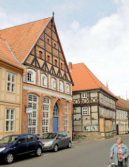 Historische Fachwerkhäuser in Salzwedel / alte Münze.