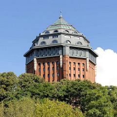 Spitze des Schanzenturms, Wasserturm Hamburg Sternschanze - jetzt Möwenpick Hotel.