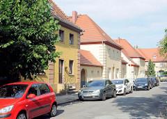 Strasse, Wohnhäuser Kirchmöser, Brandenburg an der Havel.
