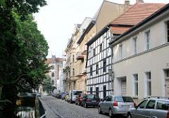 Historische Architektur in der STadt Brandenburg - Fachwerkgebäude, erbaut 1784 als Speicher der Lohmühle.