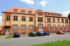 Historisches Postgebäude  in Pritzwalk, Poststrasse.