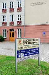 Brandenburgisches Oberlandesgericht am Gertrud Piter Platz in Brandenburg an der Havel.