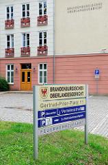 Brandenburgisches Oberlandesgericht am Gertrud Piter Platz in Brandenburg an der Havel.