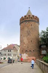 Steintorturm der Stadtmauer von Brandenburg an der Havel - erbaut in der ersten Hälfte des 15. Jahrhunderts.