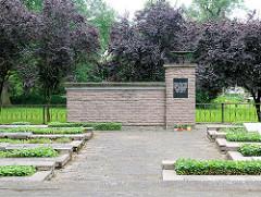 Sowjetischer Ehrenfriedhof in Pritzwalk, Havelberger Strasse.
