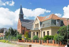 Katholische Kirche ST.  Anna in Pritzwalk, fertig gestellt 1906.