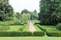 Gartenanlage an der Wallstrasse von Brandenburg an der Havel.