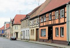 Einstöckige Wohngebäude, Fachwerkhaus - Havelberger Strasse in Pritzwalk.