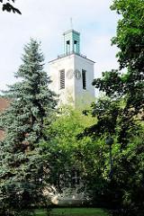 Kirchturm der Dorfkirche von Kirchmöser / Brandburg an der Havel; Einweihung 1929,