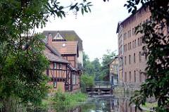 Mühlengebäude an der Alten Elde in Grabow.