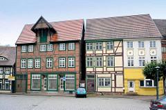 Historischen Fachwerkhäusern, Wohnhaus / Speicher - Ladengeschäft in Grabow, Mecklenburg Vorpommern.