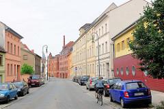 Mehrstöckige Gebäude - Häuser im Mühlendamm von Brandenburg a. d. Havel.