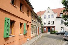 Wohnhäuser in der Altstädtischen Große Heidestrasse in Brandenburg an der Havel.