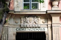 Eingang vom Gemeindehaus der St. Katharinenkirche von Brandenburg an der Havel.