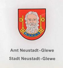 Wappen vom Amt Neustadt-Glewe / Stadt Neustadt-Glewe.