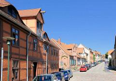 Historische Fachwerkarchitektur in der Mühlenstrasse, Plau am See.
