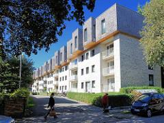 Moderne Neubauten - Wohnhäuser im Wolffsonweg in Hamburg Alsterdorf..