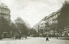 Historisches Bild der Gosslerstrasse von Hamburg Eppendorf - jetzt Geschwister Scholl Strasse.