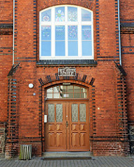 Eingang Fritz Reuter Schule, Parchim.