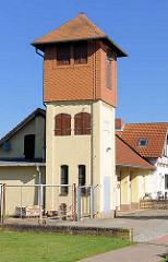 Schlauchturm der Freiwilligen Feuerwehr in Lübz - Kreiener Strasse.