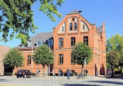 Altes Rathaus von Lübz - das Gebäude mit Backsteinfassade steht unter Denkmalschutz.