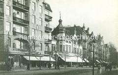Gründerzeit - Wohnhäuser / Geschäfte Eppendorfer Marktplatz, Eppendorfer Landstrasse. (ca. 1915)