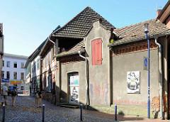 Kirchgasse in Parchim, Mecklenburg-Vorpommern.