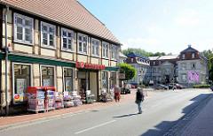 Fachwerkgebäude, Wohnhaus / Geschäftshaus an der Breitscheidstrasse in Neustadt Glewe.