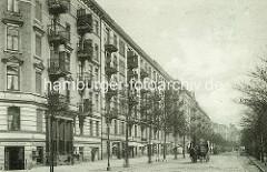 Historisches Motive - Wohnhäuser in der Hegestrasse.