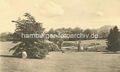 Historische Ansicht vom Eppendorfer Park vor dem Eppendorfer Krankenhaus.