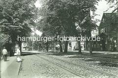 Blick von der Eppendorfer Johanniskirche in die Ludolfstrasse - alte Aufnahme, ca. 1900.