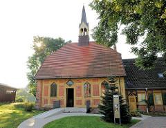 Stiftskirche zu Lübz; wieder aufgebaut 1858.