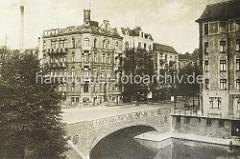 Historische Aufnahme vom Eppendorfer Baum - Blick über den Isebekkanal.