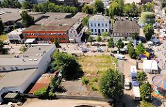 Luftbild vom Harburg - historische Gebäude an der Harburger Schlossstrasse.