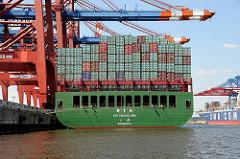 Containerschiff Waltershofer Hafen Eurogate XIN CHANG SHU