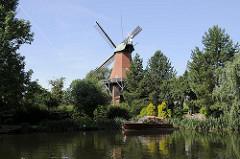 Mühlen in der Hansestadt Hamburg - Reitbrooker Mühle an der Doveelbe.